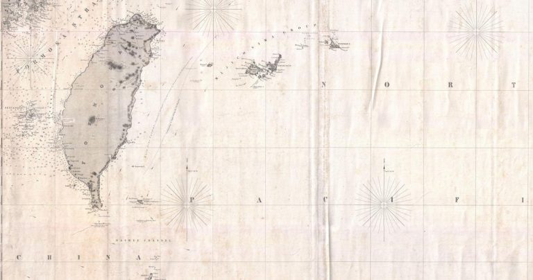 1876_Imray_Blue-back_Nautical_Chart_or_Map_of_Taiwan_(Formosa),_China_-_Geographicus_-_Taiwan-imray-1876