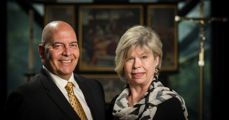 Group portrait photograph of Michael and Nancy Morizio