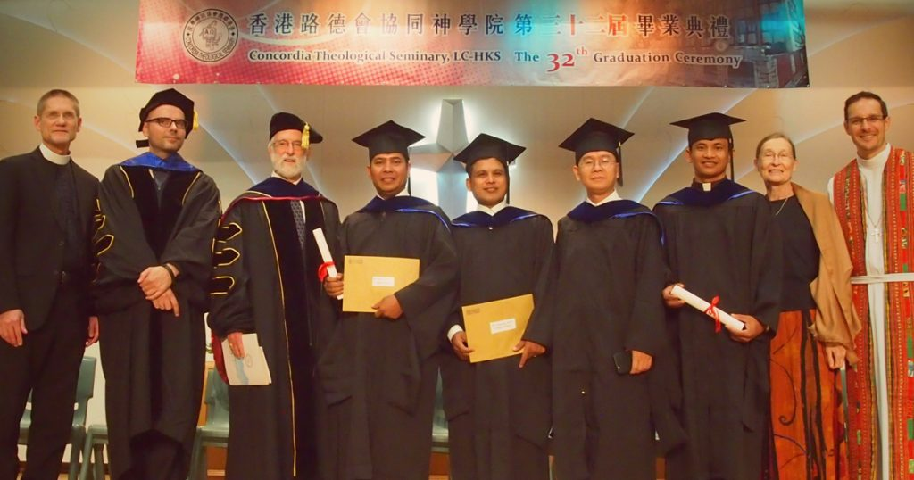 Photo of seminary graduates in Hong Kong
